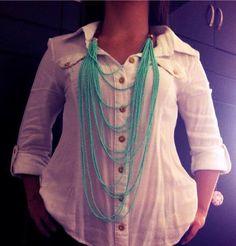 Collar Moca  100% #handmade #mocaaccesorios #Colombia Ref. C.M006//