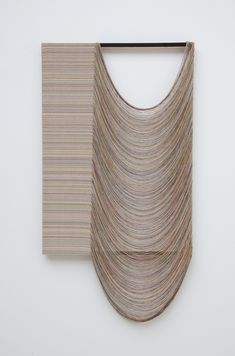 Gabriel Pionkowski | Untitled, 2011,  Deconstructed, hand-painted and woven canvas, pine, acrylic,  56 x 30 inches
