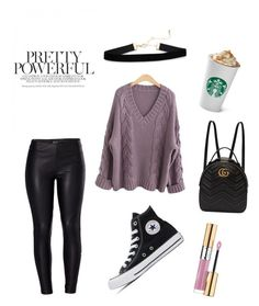 prettygirl by ramonacy on Polyvore featuring polyvore, beauty, Yves Saint Laurent, Gucci, Venus, Converse, polyvoreeditorial, polyvorefashion and easydresses