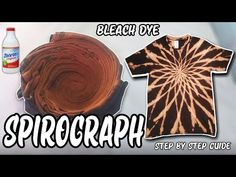 Bleach Dye Shirts, Diy Tie Dye Shirts, Diy Clothes Accessories, Diy Clothes And Shoes, How To Tie Dye, How To Dye Fabric, Diy Tie Dye Designs, Diy Tie Dye Techniques, Tie Dye Party