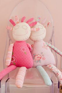 Caitlin Creer Interiors: Spring Lane Pink and Orange Girls Room {These would be super fun to make with the girls.}