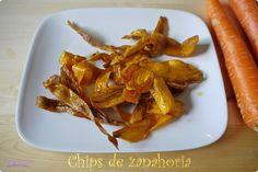 Chips de zanahoria para celebrar un cambio de look