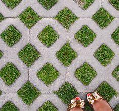 Looks like Kim Kardashian's driveway, and Kate Spade shoes.
