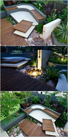 Small Backyard Ideas - Utilize our small backyard ideas and also design-smart landscaping ideas to aid your outdoor space live big. Modern Backyard Design, Modern Landscaping, Front Yard Landscaping, Backyard Patio, Landscaping Ideas, Backyard Ideas, Backyard Designs, Backyard Play, Modern Courtyard