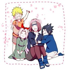 Uzumaki Naruto || Haruno Sakura || Nohara Rin || Uchiha Sasuke || Team Kakashi || Naruto