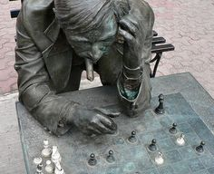 Chess Player by Sherlock77 (James), via Flickr in downtown Calgary.