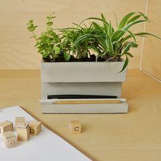 Concrete Planter: een pennenbak met groen!