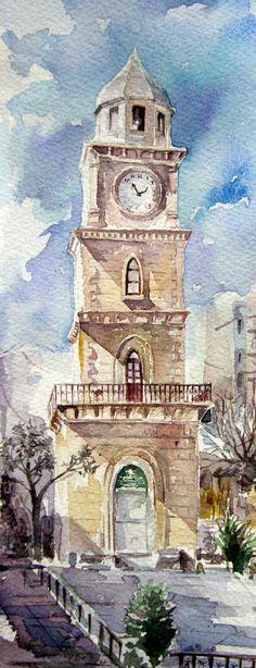 canakkale clock tower by sunaysenturk