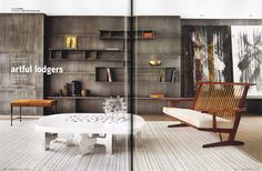 Interior Design Usa, Mid Century, The Unit, Shelves, Wood, Table, Inspiration, Furniture, Houses