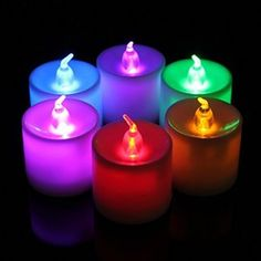 Love these flameless candles with remote control!