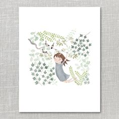 Image of Up With The Birds Print