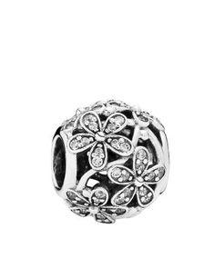 PANDORA Charm - Sterling Silver   Cubic Zirconia Dazzling Daisy Meadow 74d708f84a2