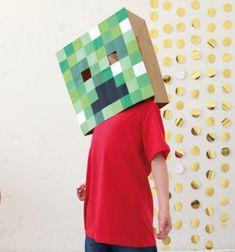 ❤ Minecraft (Creeper) maszk egyszerűen papírból - jelmez gyerekeknek ❤Mindy -  kreatív ötletek és dekorációk minden napra
