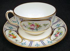 Charming Antique Minton Jeweled Tea Cup & Saucer