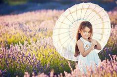 little girl with a parasol Summerland Photography