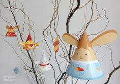 DIY paper toys Easter decoration by Studio Momoki.