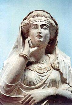 Sculpture of Palmyran woman, ca. 150 ce., #Palmyra, #Syria.