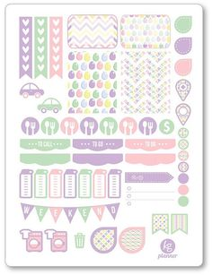 Easter Weekly Spread Planner Stickers for Erin by PlannerPenny