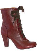 Femme Victorian Burgundy Boots
