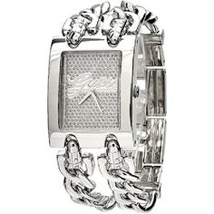 GUESS Brilliance on Links Watch  Silver and C *** See this great product.