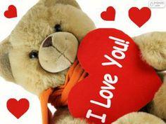 Puzle Urso de peluche com corações para Dia dos Namorados