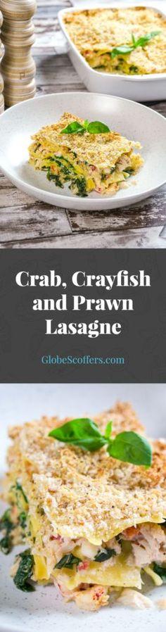Crab, Crayfish and Prawn Lasagne Recipe - Globe Scoffers Lasagne Recipes, Casserole Recipes, Crockpot Recipes, Healthy Recipes, Healthy Food, Cooking Recipes, Best Cake Recipes, Great Recipes, Dinner Recipes