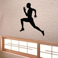 Wall Decals Vinyl Decal Sticker Art Murals Gym Decor Boy Sportsman Runner Kj252 #STICKALZ #MuralArtDecals