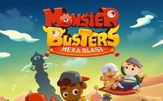 Monster Busters: Hexa Blast - Climb up the monster tower. #monster #busters #puzzle #free #mobile #game #review #iOS #Android