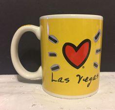 Las Vegas Luke A Tuke Coffee Mug Cup Heart Bright Yellow #LukeATuke