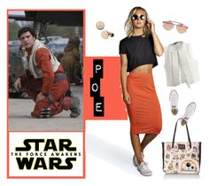 """""""Star Wars: The Force Awakens"""" by cdshep ❤ liked on Polyvore featuring Westward Leaning, Ann Demeulemeester, Boohoo, Converse, Loungefly, starwars and contestentry"""