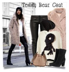 """Teddy Bear Coat Trend"" by clotheshawg ❤ liked on Polyvore featuring Preen, River Island, Free People, MICHAEL Michael Kors, Valentino and Hollister Co."