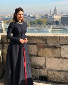 * Actual Color : Black Gown * Work : Golden Tiger Embroidered Patch * Pattern : Anarkali Gown Quality Guarantee Wash Care : First Wash Dryclean Only Delivery Time:-Same Day Dispatch Occasion : Festival, Partywear, Wedding Note: The Shade Dress Indian Style, Indian Outfits, Dress Neck Designs, Blouse Designs, Stylish Dresses, Fashion Dresses, Indian Designer Suits, Indian Gowns Dresses, Indian Fashion