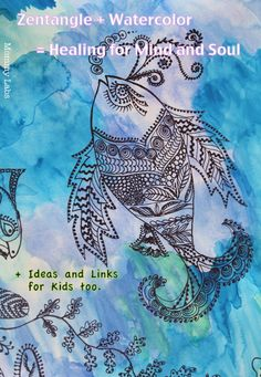 zentangle and watercolor for kids and adults