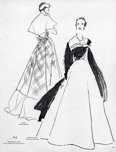 1949 - Gres & Balenciaga dress by Pierre Simon