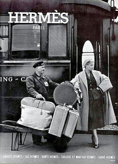 Hermès luggage ad, 1952 - Explore the World with Travel Nerd Nici, one Country at a Time. Description from pinterest.com. I searched for this on bing.com/images