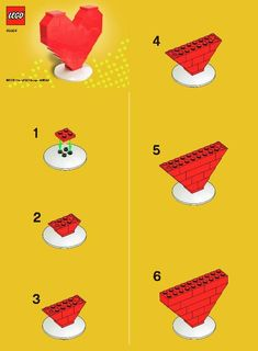 Easy LEGO Valentine Instructions - Nice project to do with the kids
