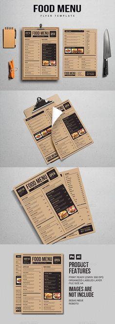 Food Menu — Photoshop PSD #bistro #spaghetti • Download ➝ https://graphicriver.net/item/food-menu/19881240?ref=pxcr