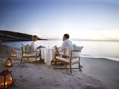 Romantic beach dinner in Australia