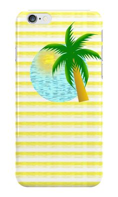 A colorful #iphone case with a design that makes you dream about a #summer voyage to a #tropical #island #Redbubble