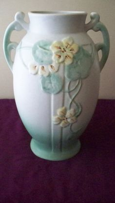 INCREDIBLY MASSIVE Weller Pottery Panella Vase by vintagesouthwest