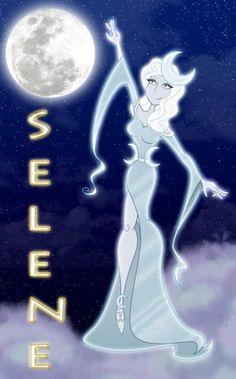 Selene goddess of the moon