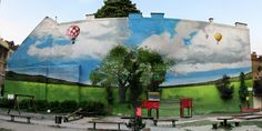 Corner of Kazinczy and Kriály street Budapest by Suppré-Neopaint Street Art, Budapest, Corner, Park, Painting, Image, Painting Art, Parks, Paintings