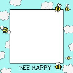 """Bee Happy"" frame for your Selfie #selfmeapp"