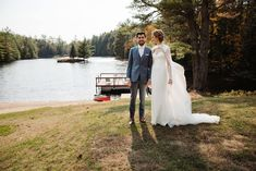 First look between the couple at their lake lodge during their small outdoor wedding in the Adirondacks in Upstate NY. Upstate NY small wedding venues. Upstate New York wedding packages. Lodge Wedding, Wedding Venues, Upstate New York, Lake George, Outdoor Weddings, Elopement Inspiration, New York Wedding, Couple Posing, Elopements