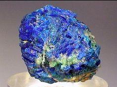 Diaboleite: Lead Copper. Coarsely crystalline, blue Diaboleite. Mammoth Mine, Tiger, AZ