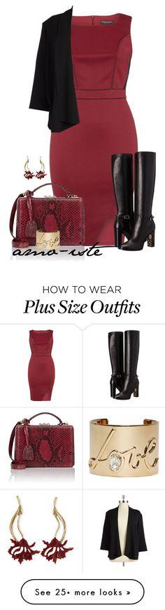 """Red - Plus Size"" by amo-iste on Polyvore featuring Dorothy Perkins, Mark Cross, Burberry, Oscar de la Renta, Lanvin, Nipon Boutique, women's clothing, women's fashion, women and female"