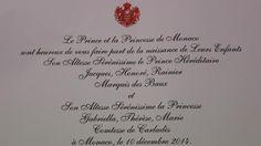 Insolite : Saint-Lô a reçu le faire-part des jumeaux de Monaco. Info - Saint-Lô.maville.com
