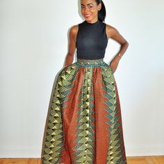African Print Skirt: Irene Maxi