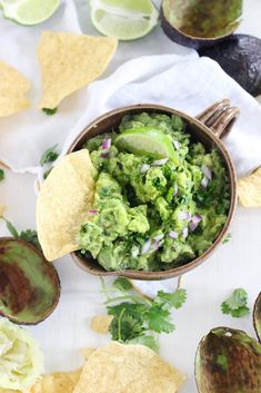 The Best Simple Guacamole with no tomatoes-This simple guacamole recipe is truly the best- nothing but avocado, cilantro, lime juice, salt, and a little bit of red onion. The avocado is diced rather than mashed for the ideal chunky texture.