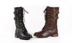 Bucco Paulita Women's Combat Boots. Multiple Options Available. Free Returns.